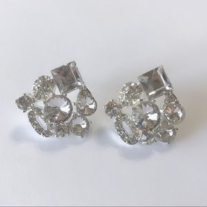 Jewelry - White Diamond earrings, NWOT